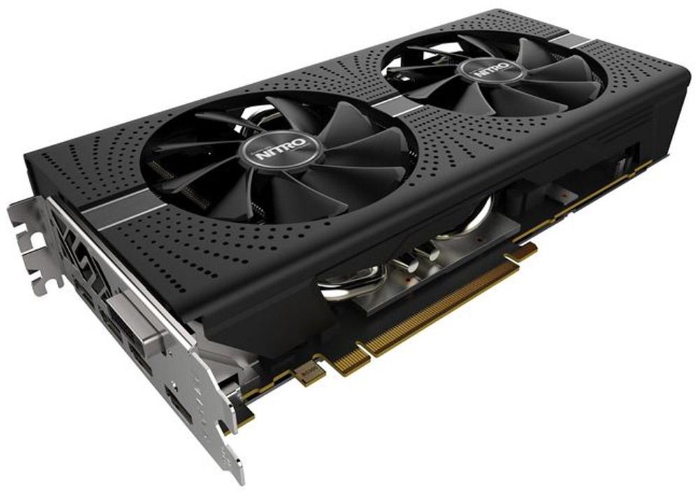 Sapphire Nitro+ Radeon RX 570 OC 8GB видеокарта11266-09-20GВидеокарта Sapphire PCI-E 11266-09-20G NITRO+ RX 570 8G OC AMD RX570 8192Mb 256b GDDR5 1340/7000 DVI