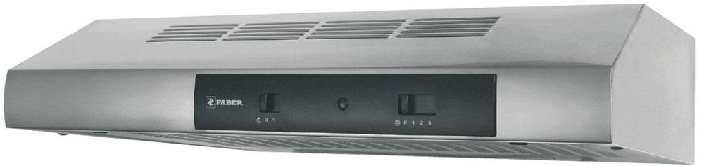 Faber 741 Base A60, Steel вытяжка110.0156.708Вытяжка Faber 741 Base A60 - компактная модель для оптимальной очистки воздуха небольших помещений. Электромеханическое управление отличается простотой эксплуатации и надежностью. Галогенная лампа ярко освещает рабочую зону без искажения цвета.Ключевые преимущества:Жироулавливающий синтетический фильтрНизкий уровень шума3 скорости работыДиаметр воздуховода: 100/120 мм