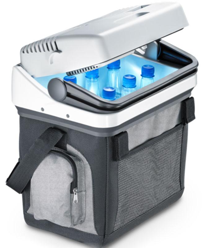 Dometic BoardBar AS 25 автохолодильникAS 25Универсальному холодильнику Dometic BordBar AS 25 не страшны никакие отключения света. Высокоэффективный и недорогой термоэлектрический автохолодильник идеально подходит для шопинга, пикников, поездок в отпуск и на пляж. Этот универсальный и компактный холодильник с карманами можно разместить на переднем сиденье пассажира или на заднем сиденье в центре. Холодильник легко крепится с помощью ремня безопасности. Его можно также носить на удобном плечевом ремне. Портативный холодильник вместимостью 20 литров.Холодопроизводительность: макс. 18 °C ниже температуры окружающей среды
