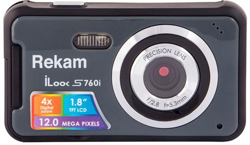 Rekam iLook S760i, Dark Grey цифровая фотокамера rekam ilook s950i black цифровая фотокамера
