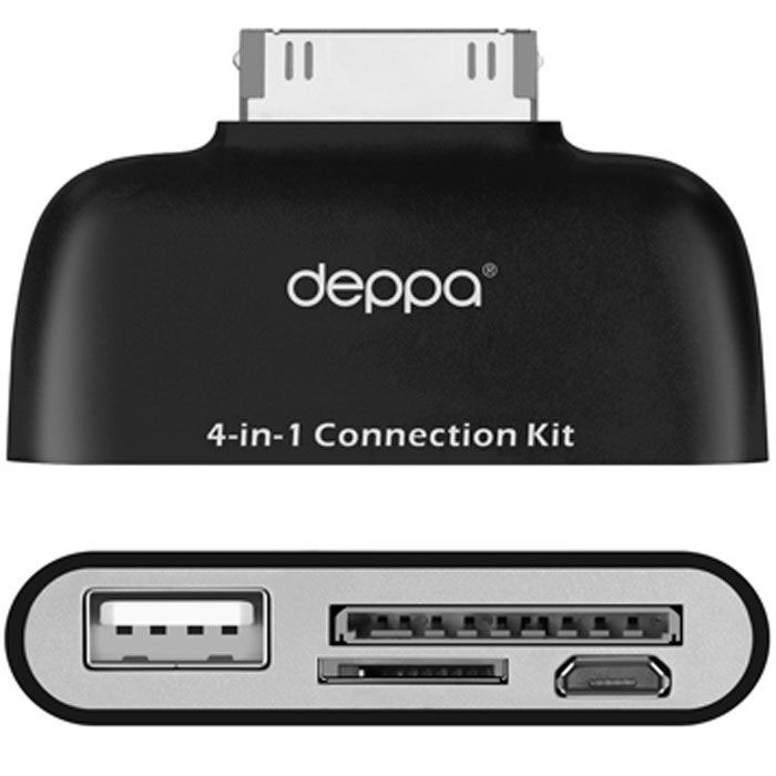 Deppa OTG Connection Kit, Black картридер для Samsung Galaxy Tab Note 10.1 - Картридеры
