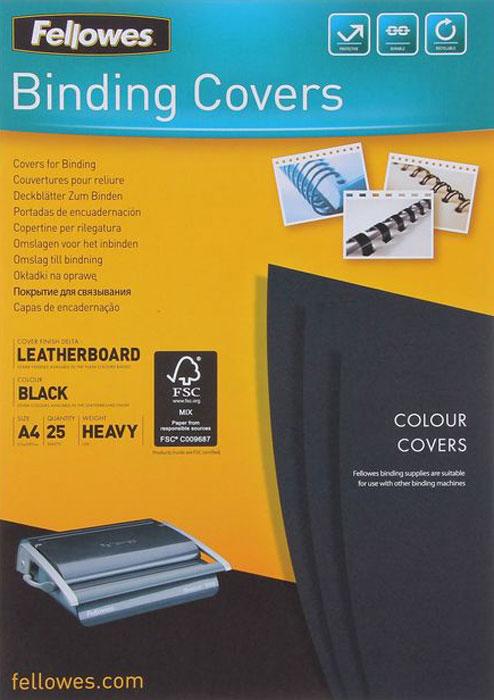 Fellowes Delta A4, Black обложка для переплета (25 шт)FS-53738Обложка Delta предназначена для оформления документов. Обложка выполнена из картона 250гр/м., тиснением под кожу, 25шт. в розничной упаковке. Идеально подходит как для переплета на пластиковую, так и на металлическую пружины.