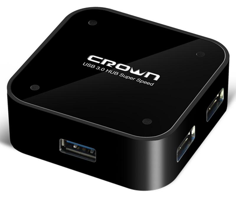 Crown CMU3-04, Black USB-концентраторCM000001183USB 3.0 хаб Crown CMU3-04 - это портативный и легкий считыватель, идеален для быстрого копирования файлов с большинства цифровых фотоаппаратов, MP3-плееров, КПК и USB-накопителей. Имеет 4 порта USB 3.0, которые дадут вам возможность легко подключить мыши и другие USB аксессуары.Скорость передачи данных: до 5 Мбит в секундуСовместим с устройствами: USB 1.1 и 2.0