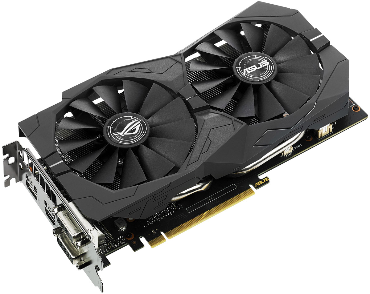 ASUS ROG Strix GeForce GTX 1050 2GB видеокартаSTRIX-GTX1050-2G-GAMINGВидеокарта Asus PCI-E STRIX-GTX1050-2G-GAMING NV GTX1050 2048Mb 128b GDDR5 1354/7008 DVIx2/HDMIx1/DP