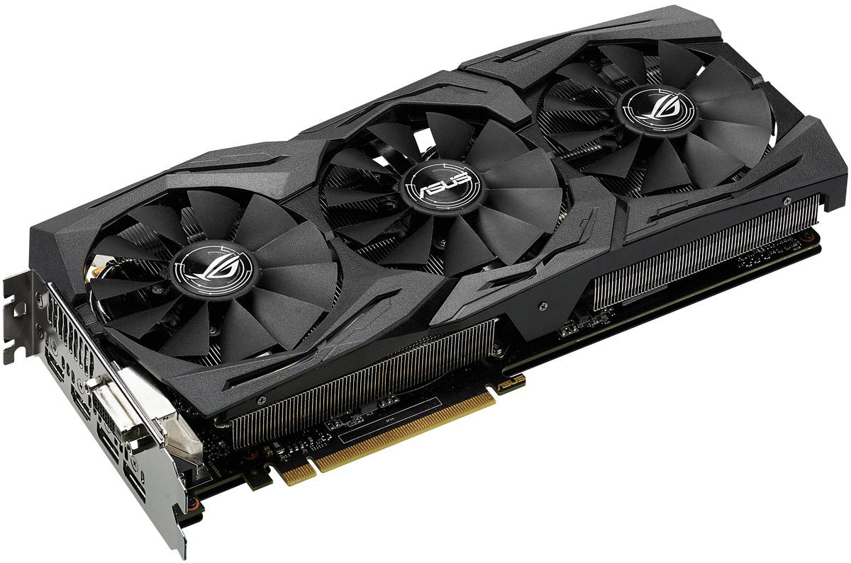 ASUS ROG Strix GeForce GTX 1080 8GB видеокартаSTRIX-GTX1080-8G-GAMINGВидеокарта Asus PCI-E STRIX-GTX1080-8G-GAMING NV GTX1080 8192Mb 256b GDDR5X 1607/10010 DVIx1/HDMIx2/