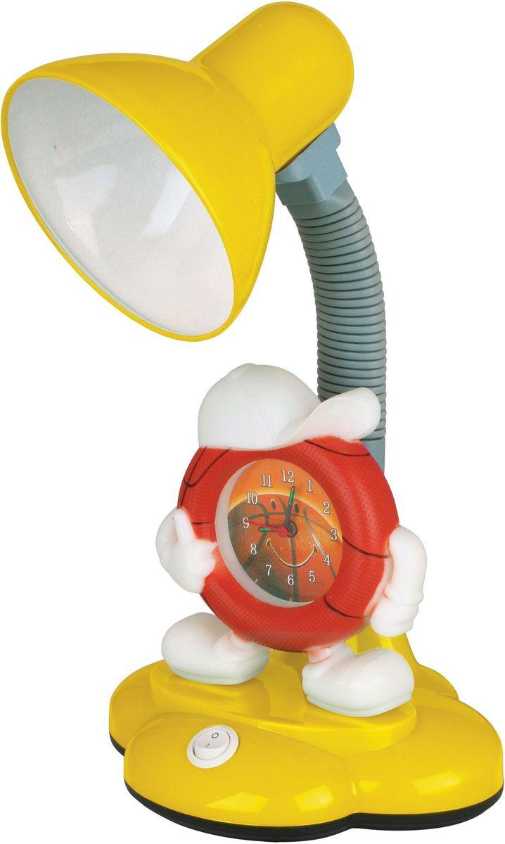Светильник настольный детский Camelion, с часами, 230В, 40Вт, E27. KD-388 C0712621Яркое решение для местного освещения в детской комнате, на письменном столе школьника. В светильниках используются безопасные и качественные материалы, возможность использования в качестве источника света любую лампу мощностью до 40 Вт. (Е27). В светильнике также имеются часы