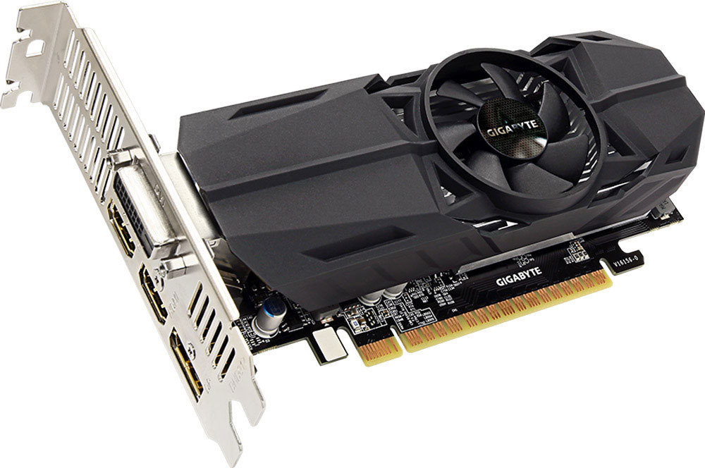 Gigabyte GeForce GTX 1050 OC Low Profile 2GB видеокартаGV-N1050OC-2GLVGA PCIE16 GTX1050 2GB GDDR5/GV-N1050OC-2GL GIGABYTE