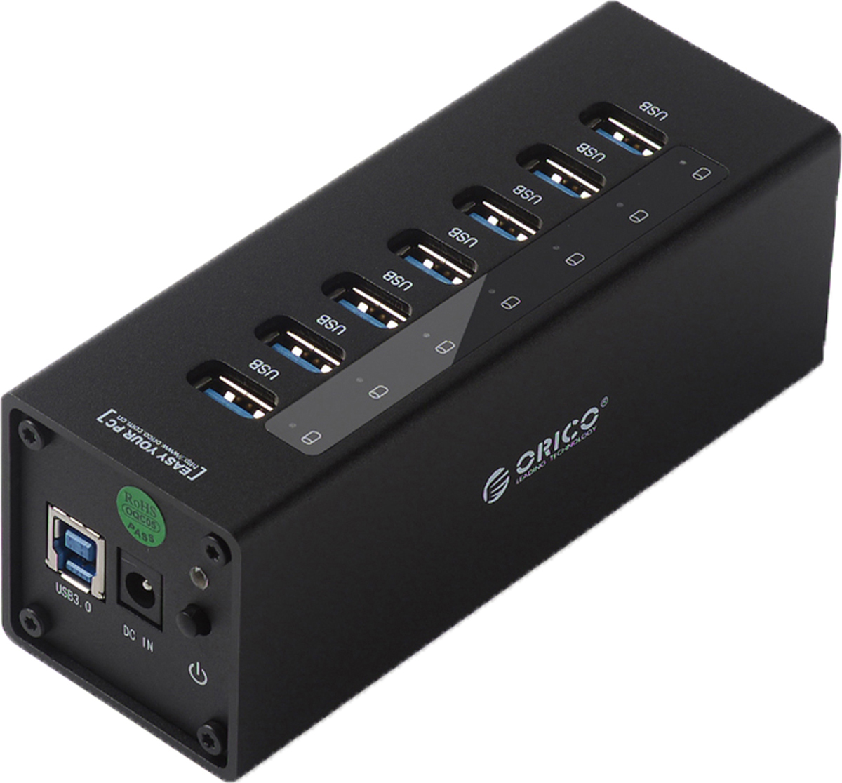 Orico A3H7, Black USB-концентратор - Кабели и переходники