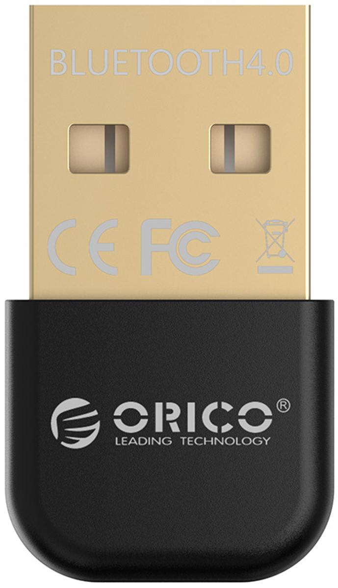 Orico BTA-403, Black Bluetooth адаптерORICO BTA-403-BKOrico BTA-403 совместим с беспроводными колонками, клавиатурами, наушниками, цифровыми камерами и всеми другими устройствами с Bluetooth. Orico BTA-403 поддерживает современный и энергоэффективный стандарт Bluetooth 4.0. Несмотря на свои компактные размеры, Orico BTA-403 может похвастаться зоной охвата в 20 метров (без препятствий) и скоростью передачи данных до 3 Мбит/сек.Характеристики:ип устройства Bluetooth-адаптерВерсия Bluetooth 4.0Интерфейс USB 2.0Контроллер CSR8510Скорость сигнала 3 Мбит/секРасстояние передачи сигнала до 20 метровПоддержка ОС Windows XP / Vista / 7 / 8 / 10Габариты 23 x 15 x 5 мм.
