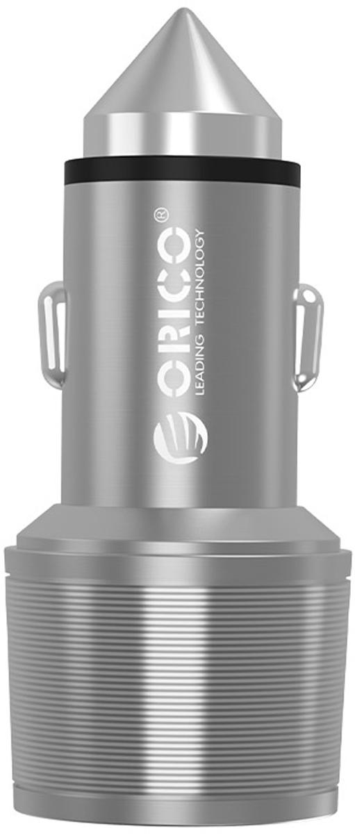 Orico UCI-2U, Silver автомобильное ЗУORICO UCI-2U-SVНесмотря на высокую мощность, размеры у Orico UCI-2U компактны, корпус выполнен из металла. Благодаря использованию качественных электронных компонентов, КПД удалось поднять до 88%. Благодаря необычному дизайну, Orico UCI-2U можно использовать вместо аварийного молотка - разбить стекло автомобиля в случае ДТП. Orico UCI-2U защищён от коротких замыканий, высокой температуры, скачков напряжения, перегрузки по току и от других внешних воздествий. Orico UCI-2U совместим со всеми моделями автомобилей с прикуривателями на 12В. Характеристики:Тип устройства: Автомобильное зарядное устройствоМатериал корпуса: Алюминиевый сплавИсточник питания: Разъём для прикуривателя (12В ... 24В)Выходы USB Тип АКоличество выходов USB: 2Защита от скачков напряжения: ЕстьЗащита от короткого замыкания: ЕстьЗащита от перегрева: ЕстьЗащита от перегрузки: ЕстьЗащита от излишней зарядки: ЕстьЦвет Серебро, золотоГабариты 28 х 65 ммПрочее: Возможность применения устройства в качестве аварийного молотка для разбивания стеколХарактеристики выхода 2 (1А + 2,1А).