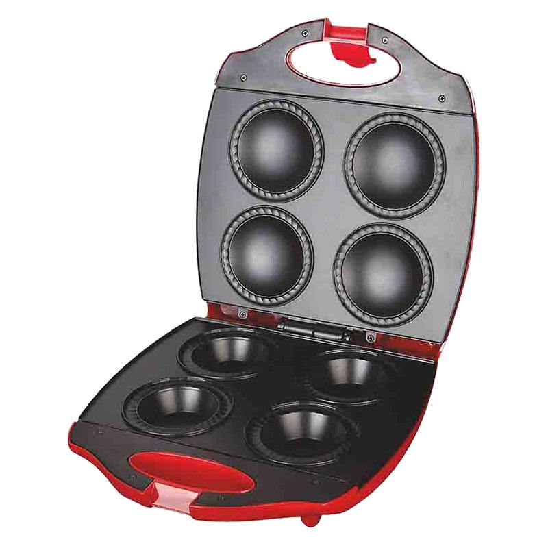 Ves V-TO-3-R кексницаV-TO-3-RКексница Ves V-TO-3-R - это идеальный выбор для современной кухни, сочетающий отличное качество изготовления и стильный дизайн. Модель предназначена для выпекания вкуснейших кексов, поэтому она отлично подойдет для приготовления завтраков или десертов. За один раз вы сможете приготовить сразу 4 кекса. Благодаря мощности в 1400 Вт и пластинам с антипригарным покрытием, устройство приготовит ваше любимое блюдо в считанные минуты. Для удобства использования, кексница оснащена автоматическим регулятором температуры, контрольными лампами сети/нагрева, термостойким корпусом и нескользящими ножками.