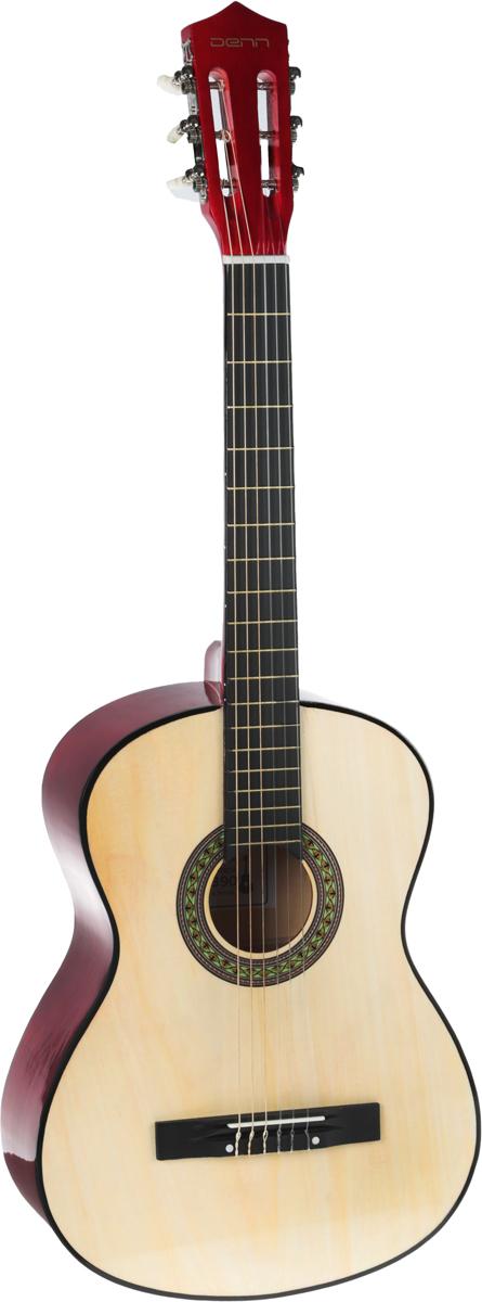 Denn DCG390 акустическая гитараDCG390Denn DCG390 – классическая акустическая шестиструнная гитара. Корпус инструмента изготовлен из клена и липы и имеет лакированное покрытие красного цвета. Эту гитару вы всегда сможете взять с собой.