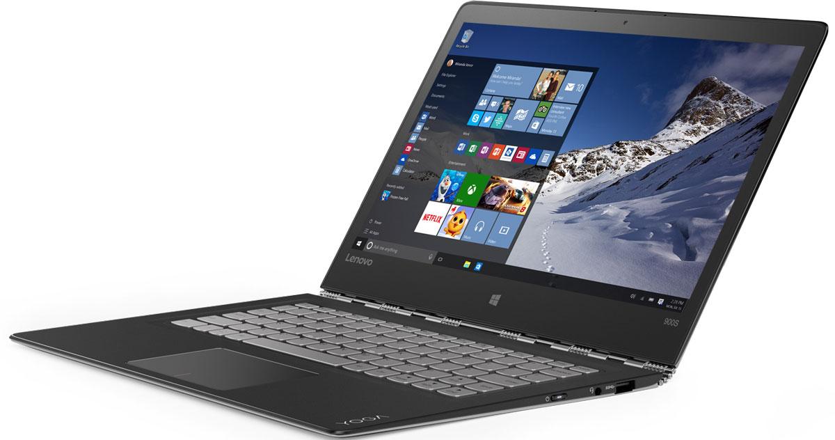 Lenovo Yoga 900S-12ISK, Silver (80ML005ERK)80ML005ERKLenovo Yoga 900S - ультратонкий 12,5-дюймовый ноутбук 2-в-1 с увеличенным временем автономной работы.Тонкий, легкий, тихий и универсальный. Новое поколение процессоров Intel Core обеспечивает мобильным устройствам большую вычислительную мощность, высокую скорость отклика и длительное время автономной работы. Высокопроизводительный, многофункциональный процессор M7-6Y75 с встроенной системой безопасности открывает вам качественно новые возможности для работы, творчества и развлечений. Разбудите свою фантазию и раздвиньте границы возможного с помощью ОС Windows 10, дополненной с процессором Intel Core M7-6Y75.Аккумулятор Yoga 900S обеспечивает устройству почти сутки автономной работы. Одного заряда аккумулятора хватит на время перелета из Лас-Вегаса в Лондон или на просмотр 10 серий вашего любимого телешоу подряд.Петли уникального поворотного механизма выглядят очень элегантно. Они состоят из 813 отдельных деталей и позволяют вам плавно переходить от одного режима использования к другому. Минимальное расстояние между подвижными элементами обеспечивает надежную фиксацию экрана в избранном положении. Замок звеньевого механизма, выполненный по технологии Auto Lock, позволяет с легко открывать и закрывать ноутбук даже одной рукой. При толщине всего в 12,8 мм и весе 990 г Yoga 900S явялется самым тонким в мире ноутбуком-трансформером. Практически невесомый, этот ноутбук очень прочен благодаря корпусу из углеродного волокна.Yoga 900S – это невероятно адаптивный компьютер. Используйте один из четырех режимов в зависимости от того, что вы делаете: ноутбук, консоль, презентация или планшет. Секрет прост: Благодаря уникальной конструкции корпуса, оснащенного звеньевым механизмом, экран Yoga 900S можно поворачивать на 360° и выбирать оптимальный для ваших задач режим работы.Благодаря технологии IPS яркий QHD-дисплей Yoga 900S подстраивается под ваш стиль работы. Вы можете поставить ноутбук на рабочий стол, перевернуть его, дер