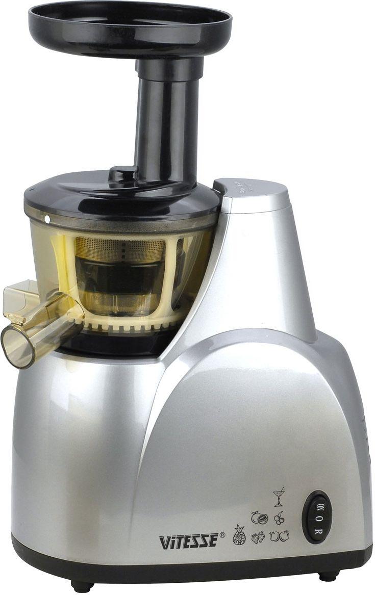 Vitesse VS-553 шнековая соковыжималкаVS-553Торговая марка Vitesse спешит представить вам универсальную соковыжималку VS-553, способную перерабатывать все виды фруктов и овощей. Натуральный здоровый сок в любое время года, полученный из любимых продуктов, вам обеспечен!