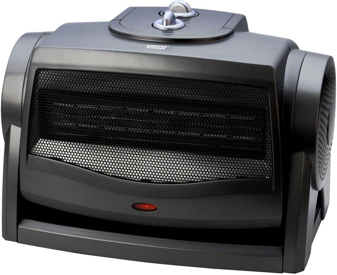 Vitesse VS-866VS-866Настольный керамический тепловентилятор Vitesse VS-866. Если вам нужен универсальный прибор, способный освежить в жару и согреть помещение в межсезонье, когда ещё не включено центральное отопление, купите надежный и безопасный керамический тепловентилятор Vitesse.