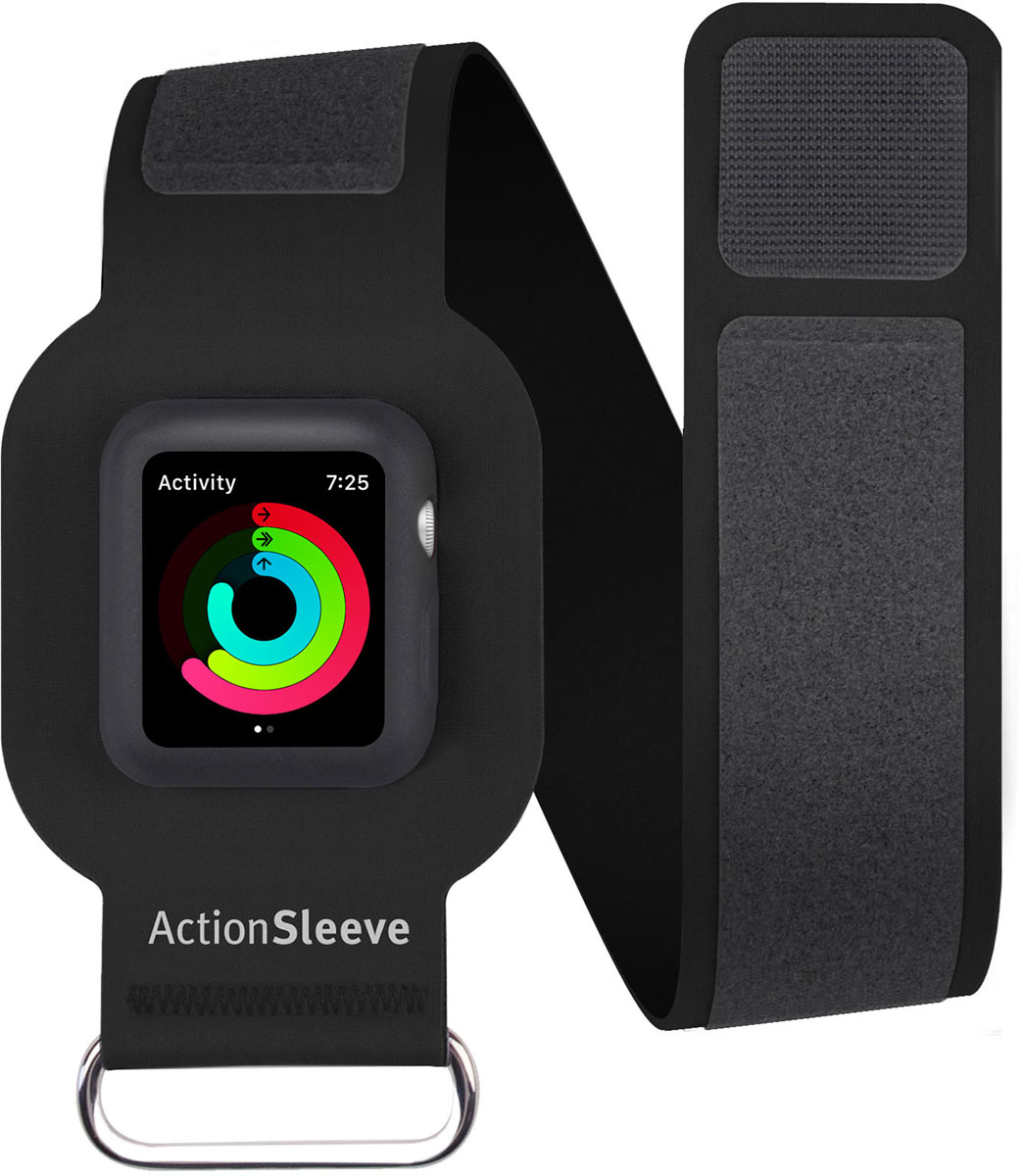 Twelve South Action Sleeve Armband чехол для Apple Watch 38mm, Black (Размер L)12-1701