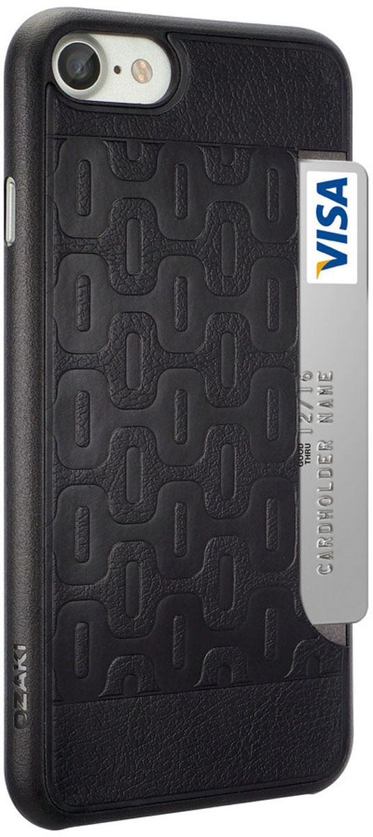Ozaki O!coat 0.3+Pocket Сase чехол для iPhone 7, BlackOC737BK
