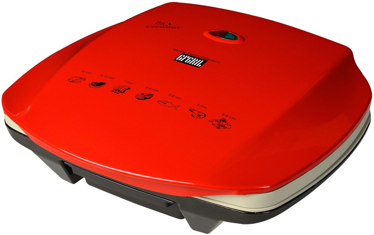GFgril GF-070 Ceramic BIO, Red электрогрильGF-070 Ceramic BIOGfgril GF-070 Ceramic BIO - электрический гриль с керамическими жарочными поверхностями. Керамическое антипригарное покрытие пластин не требует добавления масла или жира, не выделяет вредные вещества при жарке. Общий срок эксплуатации у поверхностей выше, а в уходе они очень неприхотливы. Пища не пригорает, гриль легко моется. Покрытие не боится высоких температур, панели нагреваются быстро и равномерно. Плавающая замковая система верхней крышки подстраивается под любую высоту продукта. Предусмотрено компактное вертикальное хранение. Выдвижной поддон отлично справится с удалением лишнего жира. Регулировка наклона корпуса обеспечивает лучшее стекание жира.