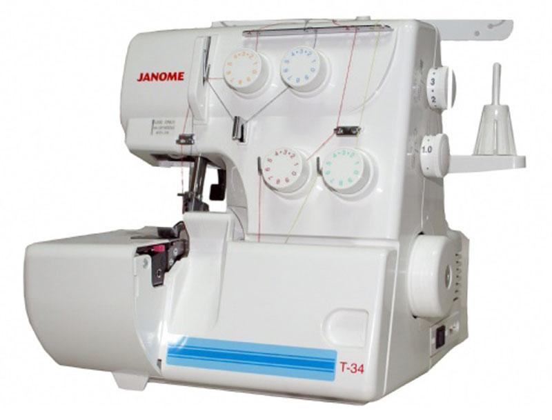 Janome Т-34 оверлокТ - 344/3-ниточный оверлок Janome Т-34- идеальное дополнение к вашей швейной машине. Он имеет простой и надёжный механизм. Регулятор давления лапки на ткань и дифференциал подачи ткани поможет легко справляется с любыми современными материалами.