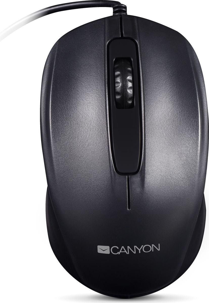 Canyon CNE-CMS01B, Black мышьCNE-CMS01BЕсли вы хотите оборудовать своё рабочее место простыми и надежными гаджетами для ПК, эта оптическая проводная мышь – оптимальный выбор. Благодаря гладкой и нескользящей поверхности, ее кнопки очень приятны на ощупь. Разрешение 1000 DPI оптимизировано для ноутбуков и больших мониторов. Кнопки рассчитаны на 3 миллиона кликов. Наслаждайтесь качеством и простотой!