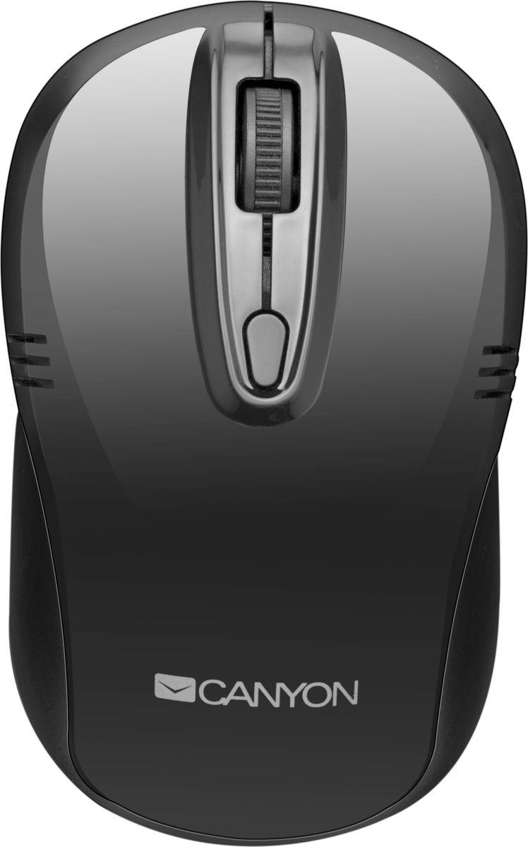 Canyon CNE-CMSW02B, Black мышь беспроводнаяCNE-CMSW02BCanyon CNE-CMSW02B оптическая беспроводная мышь избавит вас от путаницы в проводах и освободит рабочее пространство