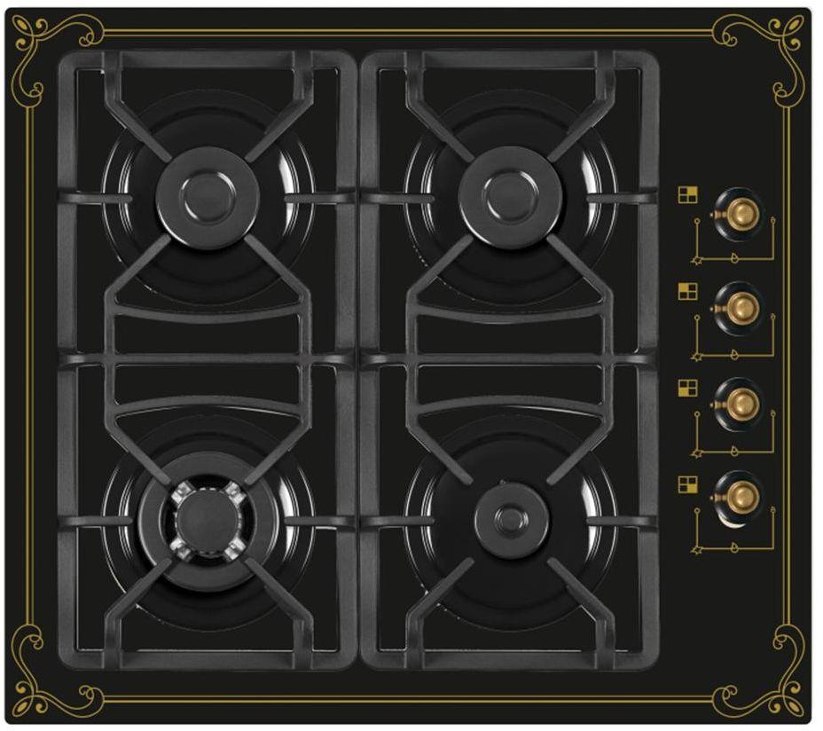 Ricci 37 RGN-650BL, Black газовая варочная поверхность - Варочные панели