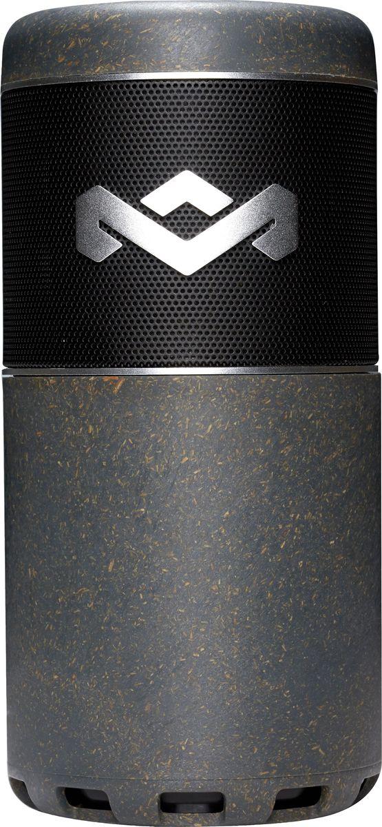 House of Marley Chant, Sport портативная акустическая системаEM-JA009-MIПортативная водонепроницаемая Bluetooth акустика Chant Sport предназначена для людей, предпочитающих активный образ жизни. Chant Sport сопрягается со всеми мобильными устройствами, поддерживающими Bluetooth. Также возможно и проводное подключение через стандартный аудио разъем. Динамики акустики будут радовать вас ярким, мощным и сочным звучанием. Высокие и средние частоты гармонично дополнены насыщенными басами, благодаря двойным пассивным излучателям. Аккумулятор обеспечивает до 8ч работы без подзарядки. К тому же, встроенный микрофон позволяет использовать колонку в качестве устройства громкой связи. Chant Sport возможно прикрепить к одежде или рюкзаку с помощью карабина, который входит в комплектацию или же установить во флягодержатель велосипеда. Более того, по нескольким причинам у вас не будет повода для переживаний, если колонка упадет в воду: во-первых, Chant Sport является водонепроницаемой (при использовании колонки, убедитесь, что разъемы плотно закрыты силиконовой крышкой); во-вторых, колонка не тонет, так как имеет функцию поплавка. Также, степень защиты IP67 говорит и о том, что пляжный песок не повредит устройство при закрытой крышке разъемов. Колонку останется просто помыть проточной водой и при этом не обязательно отключать ваши треки по Bluetooth соединению. Весит колонка 480г.Функциональные особенности: Полная защита от воды и мелких частиц (IP67). Встроенный микрофон. Выход на наушники. Материал корпуса: Биопластик с вкраплениями натуральных деревянных волокон, силикон, аллюминий. Комплектация: Портативная колонка, карабин, кабель USB, инструкция. Размеры, мм: 75 x 75 x 160. Размер упаковки (ДхШхВ), см: 95 x 95 x 200. Вес, г: 480. Вес в упаковке, г: 680.
