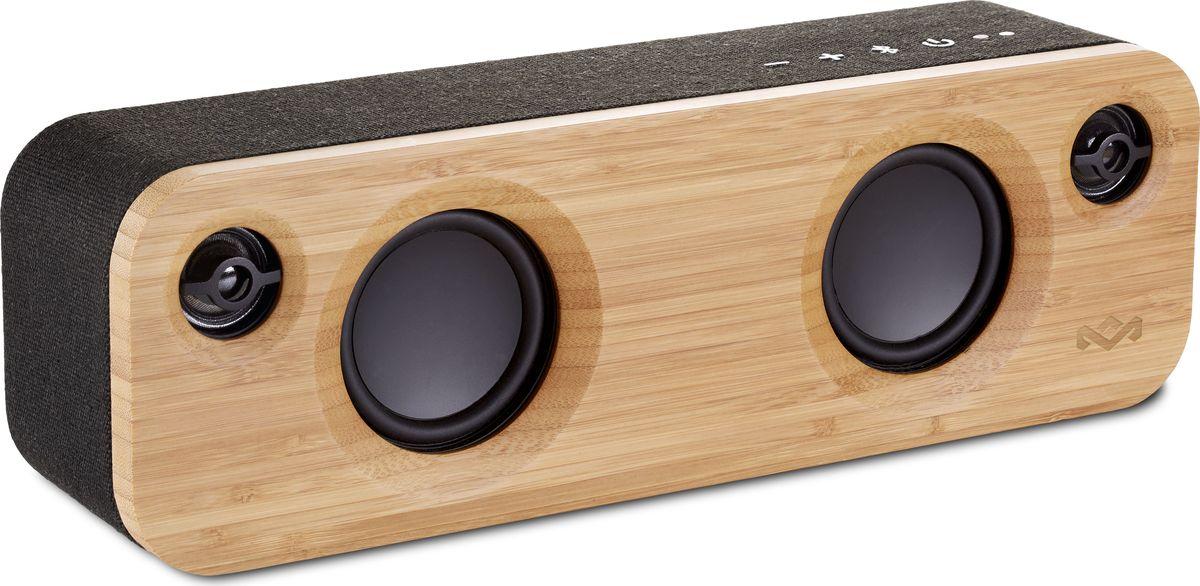 House of Marley Get Together Mini, Signature Palm портативная акустическая системаEM-JA013-SBGet Together Mini - это стильная портативная акустическая Bluetooth система с премиальным звуком. Дизайнерская акустика выглядит эффектно за счет микса различных экологически чистых материалов: передняя и задняя панели выполнены из бамбука , а по периметру корпус обтянут прочной фирменной тканью Rewind. Два встроенных низкочастотных динамика и два высокочастотных динамика выдают исключительно высокое качество звучания. Пассивный радиатор добавляет глубины нижним частотам. Литий-ионный аккумулятор позволяет наслаждаться качественным звуком до 10ч без подзарядки и ко всему прочему, заряжать ваши мобильные устройства с помощью USB-порта. Встроенный микрофон позволяет использовать колонку в качестве устройства громкой связи. А при желании, 2 колонки Get Together Mini возможно объединенить в пару. Функциональные особенности: 2 НЧ динамика + 2 ВЧ динамика + пассивный излучатель. Встроенный микрофон. Выход на наушники. С помощью USB порта возможно заряжать мобильные устройства. Возможность объединения двух колонок Get Together Mini в пару. Материал корпуса: Бамбук, фирменная ткань Rewind. Комплектация: Портативная колонка, адаптер питания, сменные штекеры под розетки US/EU/UK/AU, micro USB кабель, инструкция. Размеры, мм: 300 x 73 x 97. Размер упаковки (ДхШхВ), см: 430 x 127 x 150. Вес, г: 1590. Вес в упаковке, г: 2150.
