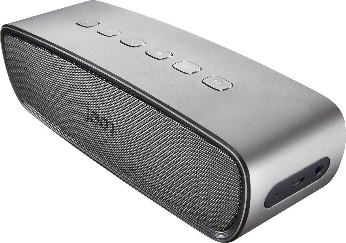 Jam Heavy Metal портативная акустическая системаHX-P920-EUНесмотря на небольшие размеры акустической Bluetooth системы Jam Heavy Metal, колонки выдают сочный премиальный звук благодаря 2 мощным динамикам, расположенным по обе стороны корпуса. 2 пассивных излучателя усиливают звучание низких частот, придавая им неожиданную глубину для такого компактного корпуса. Литий-ионный аккумулятор позволяет наслаждаться качественным звуком до 8ч без подзарядки. Монолитный корпус из анодированного металла смотрится эффектно. Акустика оснащена стандартным аудиовходом мини-джек 3,5 мм. Встроенный микрофон позволяет использовать колонку в качестве устройства громкой связи (при беспроводном подключении к телефону).Функциональные особенности: Встроенный микрофон. Выход на наушники. Материал корпуса: пластик. Комплектация: Портативная колонка, инструкция. Размеры, мм: 210 x 63 x 60. Размер упаковки (ДхШхВ), см: 215 x 185 x 100. Вес, г: 780. Вес в упаковке, г: 1080.