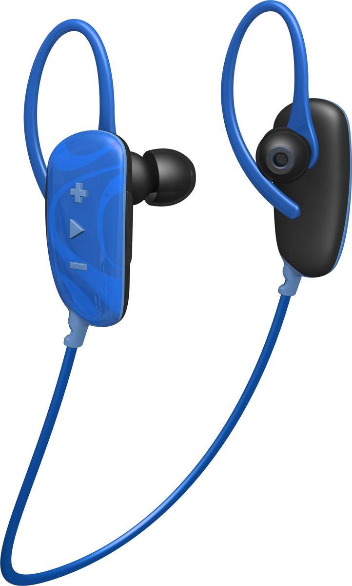 Jam Fusion Buds, Blue беспроводные наушникиHX-EP255BL-EUСпортивные Bluetooth наушники Jam Fusion будут радовать вас не только во время тренировок, но и на ежедневных прогулках.Автономная работа при полностью заряженном аккумуляторе позволит вам до 6ч непрерывно наслаждаться вашими любимыми композициями.Встроенный микрофон и удобное управление на правом корпусе наушников позволяют переключать музыку и отвечать на звонки, не отвлекаясь от выполнения упражнений. Высокая степень защиты класса IPX4 будет служить защитой вашим наушникам от воздействия пота и влаги.