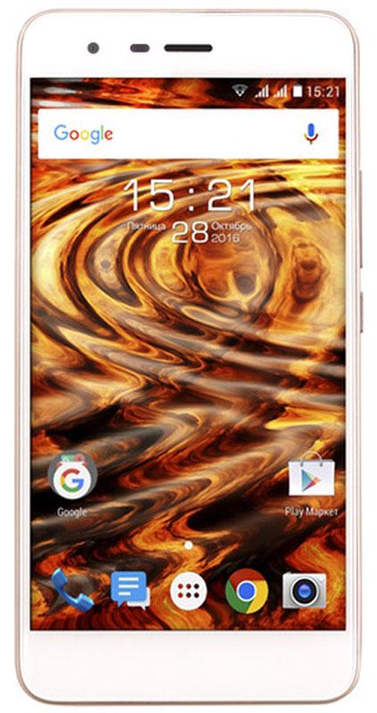 Fly Cirrus 7 FS511, Сhampagne Gold9901Fly Cirrus 7 воплощает основные преимущества бренда Fly – отличные технические возможности, яркий привлекательный дизайн. Смартфон поддерживает высокоскоростное соединение LTE, работает на базе OC Android 6.0 Marshmallow, имеет 13 Мпикс камеру и широкий дисплей 5.2 с HD разрешением. Смартфон работает в LTE 4G сетях самых популярных в мире диапазонов (band 3, 7, 20) и обеспечивает высокоскоростное соединение и быструю загрузку данных из интернета со скоростью до 150 Мб/с.Аппарат станет идеальным спутником в дороге: благодаря наличию модулей навигации GPS и A-GPS вы сможете в считанные секунды получать доступ к гео-данным и прокладывать маршруты. Широкий дисплей с диагональю 5.2 и HD разрешением преобразит привычную работу с мобильным контентом. Красочное и яркое изображение с высоким уровнем детализации позволит беспрепятственно работать с документами и мультимедиа-файлами. Слаженную и эффективную работу обеспечивает операционная система Android 6.0 Marshmallow, обладающая современными функциями для обеспечения безопасности и энергосбережения. Например, функции Doze и App Standby, направленны на экономию заряда, в сочетании с аккумулятором 2600 мАч обеспечивают продолжительную работу смартфона без подзарядки.В Fly Cirrus 7 установлен мощный четырехъядерный процессор MT6737 от MediaTek, обеспечивающий бесперебойную работу ресурсоёмких приложений и виджетов. Благодаря оперативной памяти объемом 2 ГБ вам больше не придётся закрывать приложения в фоновом режиме, а переключение между окнами будет быстрым и плавным. Fly Cirrus 7 оснащен 13-мегапиксельным CMOS-сенсором от Samsung. Быстрый отклик камеры, высокая скорость фокусировки, цифровой зум и яркая светодиодная вспышка помогают запечатлеть уникальные кадры вашей жизни. А фронтальная камера с разрешением 5 Мпикс поможет в создании впечатляющих селфи.Fly Cirrus 7 обладает всеми возможностями для безграничного общения: смартфон поддерживает основные стандарты связи, имеет встроенные м