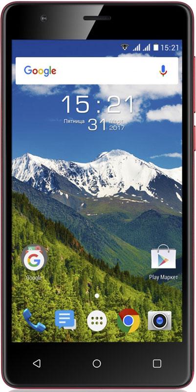 Fly Cirrus 12 FS516, Red10157Fly Cirrus 12 - один из самых доступных смартфонов в линейке Cirrus, отличается камерой с разрешением 13 МП, сбалансированной технической базой и ёмким аккумулятором 2600 мАч.Четырехъядерный процессор Fly Cirrus 12 с частотой 1.3 ГГц под управлением ОС Android 6.0 эффективно справляется с любыми пользовательскими запросами. Современные возможности управления, кастомизации и безопасности делают смартфон главным помощником в решении повседневных задач: от создания мультимедийного контента и редактирования документов до работы в интернете.Оцените возможности улучшенной 13-мегапиксельной камеры, которая позволит вам создавать снимки высокого разрешения и видео в формате HD. Яркая вспышка поможет при работе в сумерках, а быстрый автофокус гарантирует высокую чёткость фотографий в любых условиях.С Fly Cirrus 12 вы сможете не бояться, что ваш смартфон разрядится в самый неподходящий момент. Аккумулятор ёмкостью 2600 мАч обеспечивает работу до 8 часов в режиме непрерывного разговора, до 40 часов в режиме воспроизведения аудиозаписей и до 4.5 часов при работе в интернете.Безупречное качество сборки данной модели принесет максимальное удовольствие во время работы. Сбалансированные габариты 142.5 x 71.3 x 9.2 мм и матовая поверхность задней крышки обеспечивают максимально удобную работу со смартфоном.Fly Cirrus 12 оснащён широким IPS дисплеем диагональю 5 с HD разрешением. Насыщенные цвета, высокая чёткость изображения и широкие углы обзора делают работу с визуальным контентом, текстом и видео по-настоящему комфортной.Fly Cirrus 12 поддерживает работу двух SIM-карт, а значит, вы сможете подобрать самые выгодные тарифные планы и оставаться на связи в любой точке мира. Модель работает в LTE сетях, оснащена модулями Wi-Fi и Bluetooth, системами навигации GPS и A-GPS, а также предустановленными приложениями Google карты и 2GIS.Телефон сертифицирован EAC и имеет русифицированный интерфейс меню и Руководство пользователя.