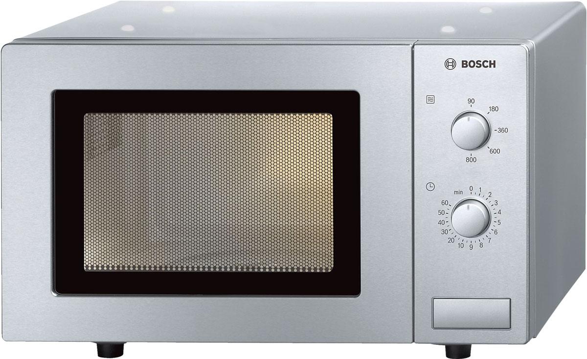 Bosch HMT 72M450R, Silver СВЧ-печьHMT72M450RМикроволновая печь Bosch HMT 72M450R позволяет не только быстро разогреть и разморозить, но и приготовить блюдо. Мощность микроволн равна 800 Вт, предусмотрено 5 уровней регулировки: 800/600/360/180/90 Вт. Камера имеет средний объем - 17 литров. Диаметр поворотного стола: 245 ммТаймер до 60 минут