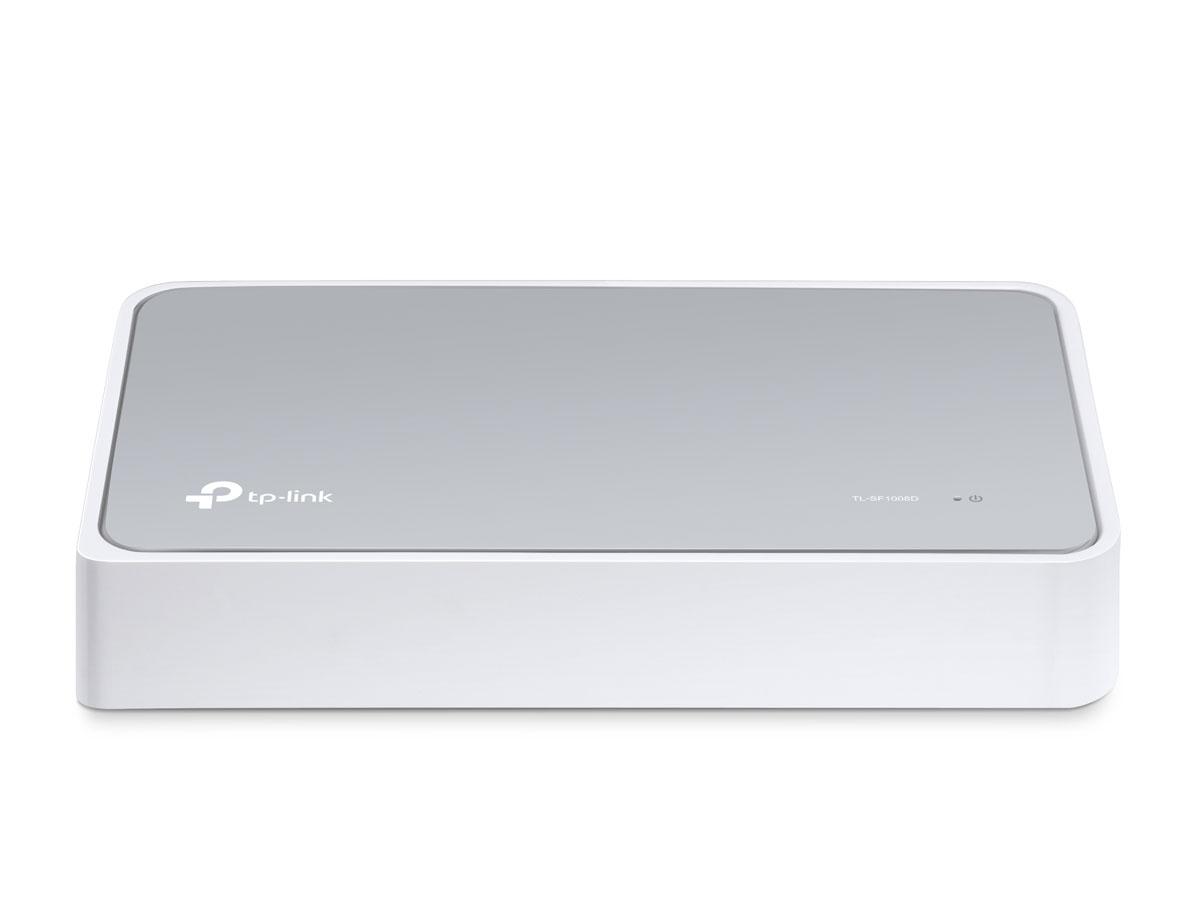 TP-Link TL-SF1008DTL-SF1008DКоммутатор Fast Ethernet TP-Link TL-SF1008D предназначен для использования дома или в небольшом офисе, а также в рабочих группах.Все 8 портов поддерживают технологию авто-MDI/MDIX, не нужно беспокоится о типе кабеля, просто воткните кабель в устройство. Более того, благодаря инновационной энергосберегающей технологии коммутатор TL-SF1008D позволит сберечь до 70%* потребляемой электроэнергии. 80% упаковочного материала может быть использовано вторично. Поэтому коммутатор является экологически-безопасным решением для Вашей деловой сети.Превосходные рабочие характеристикиКоммутатор Fast Ethernet TL-SF1008D оснащен 8 портами 10/100 Мбит/с с автосогласованием и разъемами RJ45. Все порты поддерживают функцию авто-MDI/MDIX, устраняя необходимость использования кабеля с перекрещивающимися парами или портов с поддержкой функции Uplink. Благодаря использованию неблокирующей архитектуры коммутатор TL-SF1008D может передавать и фильтровать пакеты на максимально возможной для сетевой среды скорости для обеспечения максимальной пропускной способности. Значительным образом улучшена передача файлов большого размера за счет использования Jumbo-кадров размером 10 Кбайт. Контроль потока IEEE 802.3x для полнодуплексного режима и контроль обратного потока для полудуплексного режима помогают избежать перегрузок и обеспечивают надежную передачу данных, благодаря чему работа коммутатора отличается большой надежностью.Энергосберегающая технологияКоммутатор Fast Ethernet нового поколения TL-SF1008D оснащен новейшими энергосберегающими технологиями, с помощью которых можно увеличить пропускную способность Вашей сети со значительно меньшими энергозатратами. Устройство автоматически выбирает режим питания в зависимости от статуса соединения и длины кабеля для того, чтобы сберечь электроэнергию и тем самым ограничить количество выбросов углерода, совершаемых при ее выработке.Устройство также соответствует требованиям директивы 2002/95/EC (RoHS), запрещающей использова