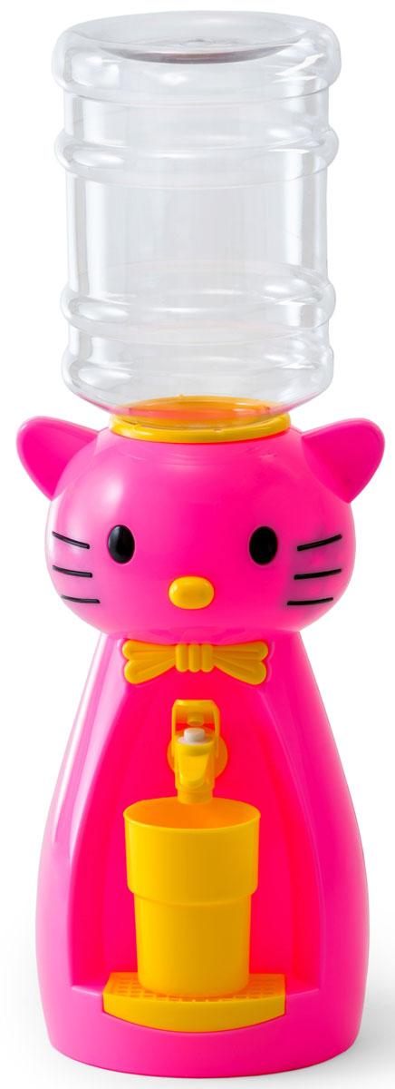 Vatten Kids Kitty, Pink кулер (со стаканчиком)4918_розовыйДетский кулер Vatten Kids Kitty для любимых напитков вашего ребёнка!Папы и мамы тоже могут присоединиться!Для применения в детской, на кухне, в офисе и на пикнике.Чисто и гигиенично. Легко налить 8 стаканов воды или любимых напитков. Ваш самостоятельный ребёнок не обожжётся, не зальёт соседей водой и не будет ходить за вами с чашкой. Никаких проводов и электричества.Объем бутылки: 2,5 л.Уважаемые клиенты! Обращаем ваше внимание на цветовой ассортимент стаканчиков. Поставка осуществляется в зависимости от наличия на складе.