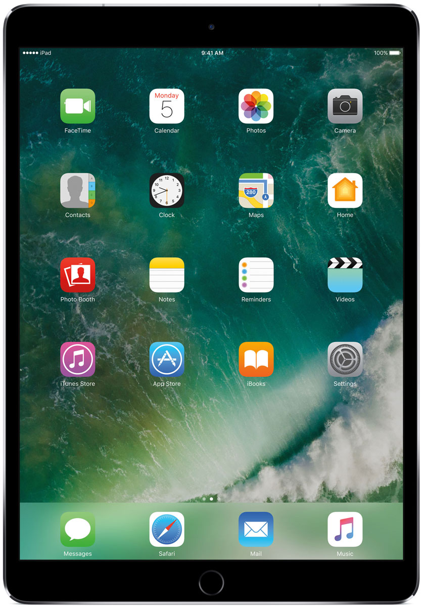 Apple iPad Pro 10.5 Wi-Fi + Cellular 512GB, Space GreyMPME2RU/AКакая бы задача перед вами ни стояла, iPad Pro готов за неё взяться. Он мощнее многих ноутбуков и при этом гораздо удобнее. Дисплей Retina получил впечатляющие возможности и стал потрясающе быстро отзываться на касания.А ещё на устройстве установлена iOS - самая передовая мобильная операционная система в мире. У iPad Pro есть всё, что вам нужно от современного компьютера. И даже больше.Multi-Touch на iPad всегда производил большое впечатление. А новый дисплей Retina поднимает планку ещё выше. Он не только ярче и отражает меньше бликов. Благодаря новой технологии ProMotion существенно выросла и скорость его отклика. Поэтому неважно, что вы делаете - пролистываете страницу в Safari или играете в ресурсоёмкую 3D-игру, - iPad Pro мгновенно отзывается на каждое касание.Дисплей Retina на новом iPad Pro работает на базе технологии ProMotion, которая поддерживает частоту обновления в 120 Гц. И это невероятно красиво. Фильмы и видео смотрятся просто потрясающе, графика в играх буквально летает - без артефактов и сбоев. А при касании дисплея пальцами или Apple Pencil устройство реагирует молниеносно.Процессор A10X Fusion с 64-битной архитектурой и шестью ядрами обеспечивает вас потрясающей мощью. Вы сможете на ходу обрабатывать видеоролики с разрешением 4K. Делать рендеринг сложных 3D-моделей. Открывать большие документы и добавлять свои зарисовки. Всё очень быстро и легко. При этом iPad Pro по-прежнему будет работать без подзарядки целый день.iOS раскрывает способности iPad, делая его ещё более удобным и полезным устройством. Новые функции системы помогают по-другому взглянуть на решение привычных задач. Многое можно настроить на свой вкус. Так что теперь у вас есть все возможности для покорения новых высот.Невероятная производительность, передовой дисплей, две камеры, сверхскоростная беспроводная связь и аккумулятор на целый день работы - всё это умещается в тонком и изящном корпусе iPad Pro. Поэтому вы можете б