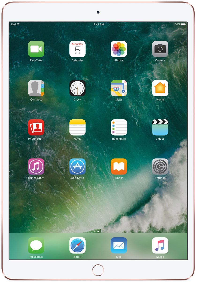 Apple iPad Pro 10.5 Wi-Fi 256GB, Rose GoldMPF22RU/AКакая бы задача перед вами ни стояла, iPad Pro готов за неё взяться. Он мощнее многих ноутбуков и при этом гораздо удобнее. Дисплей Retina получил впечатляющие возможности и стал потрясающе быстро отзываться на касания.А ещё на устройстве установлена iOS - самая передовая мобильная операционная система в мире. У iPad Pro есть всё, что вам нужно от современного компьютера. И даже больше.Multi-Touch на iPad всегда производил большое впечатление. А новый дисплей Retina поднимает планку ещё выше. Он не только ярче и отражает меньше бликов. Благодаря новой технологии ProMotion существенно выросла и скорость его отклика. Поэтому неважно, что вы делаете - пролистываете страницу в Safari или играете в ресурсоёмкую 3D-игру, - iPad Pro мгновенно отзывается на каждое касание.Дисплей Retina на новом iPad Pro работает на базе технологии ProMotion, которая поддерживает частоту обновления в 120 Гц. И это невероятно красиво. Фильмы и видео смотрятся просто потрясающе, графика в играх буквально летает - без артефактов и сбоев. А при касании дисплея пальцами или Apple Pencil устройство реагирует молниеносно.Процессор A10X Fusion с 64-битной архитектурой и шестью ядрами обеспечивает вас потрясающей мощью. Вы сможете на ходу обрабатывать видеоролики с разрешением 4K. Делать рендеринг сложных 3D-моделей. Открывать большие документы и добавлять свои зарисовки. Всё очень быстро и легко. При этом iPad Pro по-прежнему будет работать без подзарядки целый день.iOS раскрывает способности iPad, делая его ещё более удобным и полезным устройством. Новые функции системы помогают по-другому взглянуть на решение привычных задач. Многое можно настроить на свой вкус. Так что теперь у вас есть все возможности для покорения новых высот.Невероятная производительность, передовой дисплей, две камеры, сверхскоростная беспроводная связь и аккумулятор на целый день работы - всё это умещается в тонком и изящном корпусе iPad Pro. Поэтому вы можете брать его с с