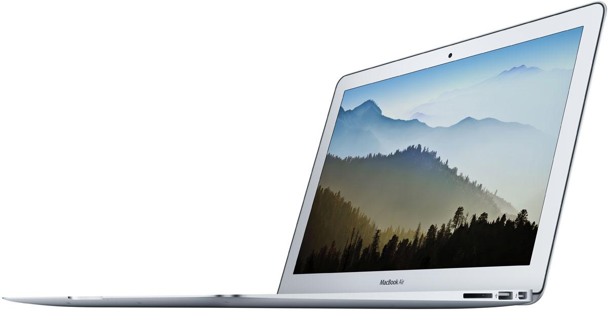 Apple MacBook Air 13 (MQD42RU/A)MQD42RU/AApple MacBook Air 13 - это сверхкомпактный ноутбук в прочном алюминиевом корпусе размером с глянцевый журнал. Двухъядерный процессор Intel Core пятого поколения, графика Intel HD 6000 и скоростной Flash-накопитель обеспечивают производительность, которой хватит для любых задач.Процессоры 5-го поколения Intel Core i5 и i7, основанные на уникальной архитектуре Broadwell ULT, обеспечивают MacBook Air мощностью, необходимой для решения ваших задач.Теперь Вы не только обладаете широкими возможностями, но и временем, чтобы ими пользоваться. Графический процессор Intel HD Graphics 6000 также обрабатывает графику быстрее. Это означает, что детализация и плавность работы ваших любимых игр и графических приложений заметно возрастут.13-дюймовый MacBook Air теперь работает без подзарядки до 12 часов. Вам не понадобится подзарядка в течение всего дня: от кофе утром и до возвращения домой вечером. А когда настанет время отдыха, вы можете смотреть фильмы в iTunes в течение 10 часов. Macbook Air работает в режиме ожидания до 30 дней - вы можете оставить его на несколько недель и вернуться к работе, словно вы никуда не уезжали.MacBook Air поддерживает сверхскоростную технологию Wi-Fi 802.11ac. При подключении к базовой станции 802.11ac, например к AirPort Extreme или AirPort Time Capsule, скорость беспроводной связи будет значительно выше, чем у предыдущего поколения MacBook Air. Кроме того, увеличилась зона действия сети Wi-Fi. Благодаря поддержке технологии Bluetooth можно подключать к MacBook Air устройства с поддержкой Bluetooth, например динамики и наушники. Теперь вам не нужны провода, чтобы всегда оставаться на связи.От угла до угла и от первого до последнего пикселя экран MacBook Air - настоящий инженерный подвиг и прорыв в области дизайна. Толщина экрана составляет всего 4,86 миллиметра, а разрешение не уступает экранам значительно большего размера. 13-дюймовый MacBook Air имеет разрешение 1440x900 пикселей. Светодиодная подсветка де