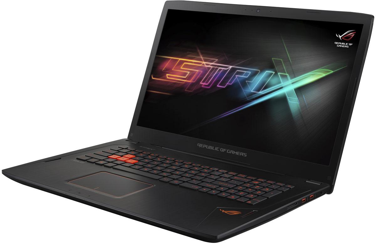 ASUS ROG GL702VM, Black (GL702VM-GB256T)GL702VM-GB256TНоутбук ASUS ROG GL702VM - это мощный процессор Intel и геймерская видеокарта NVIDIA GeForce GTX в компактном и легком корпусе. С этим мобильным компьютером вы сможете играть в любимые игры где угодно.Видеокарта NVIDIA GeForce GTX 1060 предлагает полную совместимость с современными системами виртуальной реальности и высокую производительность, необходимую для их надлежащей работы.Ноутбук ROG GL702VM - это тонкое (24,7 мм) и довольно легкое (2,7 кг) устройство, учитывая тот факт, что он представляет собой полноценную геймерскую платформу. Он без труда поместится в сумку или рюкзак и позволит своему владельцу окунуться в современные компьютерные игры в любом месте и в любое время.ROG GL702VM оснащается 17-дюймовым дисплеем с широкими (178°) углами обзора, разрешение которого составляет 3840x2160 пикселей. Дисплей данного ноутбука отличается суженной экранной рамкой. Ее толщина составляет всего 17 мм сверху и 13 мм по краям.В ноутбуке ROG GL702VM реализована технология NVIDIA G-SYNC, синхронизирующая частоту обновления экрана с частотой вывода кадров графическим процессором. Благодаря G-SYNC устраняется неприятный эффект разрыва кадра и уменьшается задержка отображения, что обеспечивает как более высокое качество картинки, так и улучшенную реакцию игры на действия пользователя.В ноутбуке ROG GL702VM применяется высокоэффективная система охлаждения с тепловыми трубками и тремя вентиляторами, независимо друг от друга обслуживающими центральный и графический процессоры. Продуманное охлаждение - залог стабильной работы мобильного компьютера даже во время самых жарких виртуальных сражений!Специалистам ASUS пришлось применить множество оригинальных решений, чтобы добиться эффективного охлаждения ROG GL702VM, учитывая ограничения, накладываемые его тонким форм-фактором. Например, дополнительный вентилятор имеет толщину, равную толщине обычного USB-разъема!Клавиатура данного ноутбука разрабатывалась специально для игр, поэт