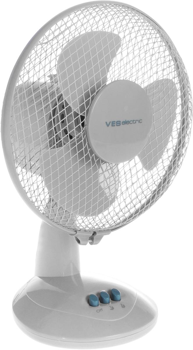 Ves VD-252 вентиляторVD-252Настольный вентилятор Ves VD-252 - подходящий вариант для использования в квартире. Модель занимает немного места и способна создать комфортные условия. Вентилятор имеет два режима обдува и функцию наклона, что позволяет направить поток воздуха в нужном направлении. В процессе работы корпус вращается, что позволяет охладить большую площадь. Вращающиеся лопасти скрыты под корпусом, что защищает вас от повреждений при случайном контакте с прибором.