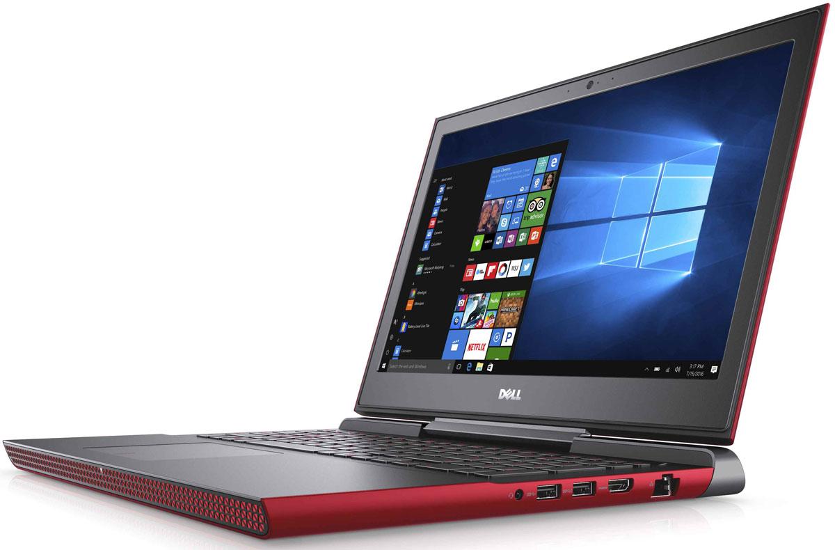 Dell Inspiron 7567-2018, Red7567-2018Получайте совершенно новые впечатления от развлечений, игр и видео с ноутбуком Dell Inspiron 15 благодаря мощному процессору Intel Core i5 седьмого поколения и графическому адаптеру NVIDIA GeForce GTX1050.Наслаждайтесь изображением высочайшего качества на дисплее, выполненном по технологии TN, с антибликовым покрытием. Этот дисплей поддерживает разрешение Full HD (1920x1080) и характеризуется широким узлом обзора.Предотвратите ошибочные нажатия клавиш с помощью клавиатуры с подсветкой, которая поможет вам играть или работать на компьютере даже в темноте. А чувствительная сенсорная панель обеспечит точную поддержку жестов с превосходным временем реакции.Погрузитесь в мир отличного звука с помощью технологии Waves MaxxAudio Pro. Разработанные корпорацией Dell широкополосные и низкочастотные динамики используют все возможности программного обеспечения для формирования звука студийного качества, поэтому вы не упустите ни малейшего оттенка звука.Точные характеристики зависят от модификации.Ноутбук сертифицирован EAC и имеет русифицированную клавиатуру и Руководство пользователя
