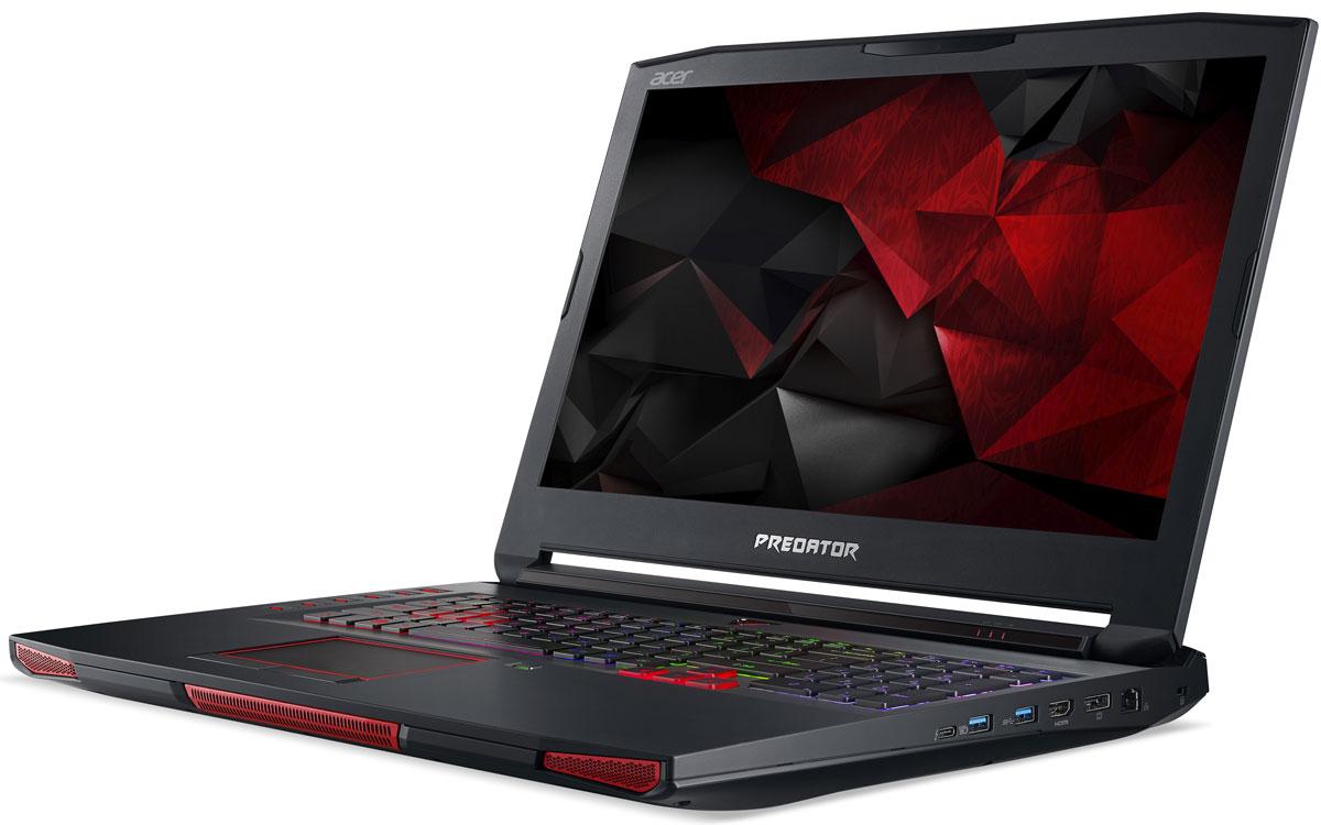 Acer Predator GX-792-78YD, BlackGX-792-78YDВпечатляющая мощность и превосходный стиль - все это в одном ноутбуке. Острые и агрессивные черты напоминают космические крейсеры, а выхлопные отверстия сзади дополняют агрессивный дизайн ноутбуку. Acer Predator GX-792 оснащен высокотехнологичным аппаратным обеспечением и инновационной системой охлаждения. В аппаратную конфигурацию ноутбука входит процессор Intel Core i7-7820HQ седьмого поколения с разблокированным множителем, оперативная память DDR4 и дискретная видеокарта NVIDIA GeForce GTX 1080. Мощные компоненты обеспечивают высокую скорость в современных играх и тяжелых приложениях, например при редактировании видео.NVIDIA G-SYNC обеспечивает плавность игрового процесса за счет синхронизации кадров, обработанных графических процессором, с частотой обновления изображения на экране ноутбука. Это полностью устраняет прерывистость и искажения изображения.Легко обжечься в пылу настоящей битвы. Сохраняйте хладнокровие благодаря усовершенствованной технологии охлаждения. Cooler Master поможет снизить температуру и повысить производительность. А решение Predator FrostCore пригодится вам во время жарких игровых баталий.Отсутствие задержек при подключении зачастую решает исход сетевых поединков. Управляйте подключением к Интернету с помощью технологии Killer DoubleShot Pro. Эта технология позволяет выбрать, какие приложения могут получить доступ к драгоценной пропускной способности. И самое главное - она позволяет использовать для доступа в Интернет проводные и беспроводные подключения одновременно.Predator DustDefender защитит основные компоненты вашего устройства от грязи и пыли. Переменное направление воздушного потока и ультратонкий вентилятор толщиной всего 0,1 мм AeroBlade, полностью выполненный из металла и отличающийся улучшенными аэродинамическими характеристиками, защитит устройство от скопления пыли.Благодаря программе PredatorSense в вашем распоряжении окажутся расширенные настройки для создания уникальной игровой ат