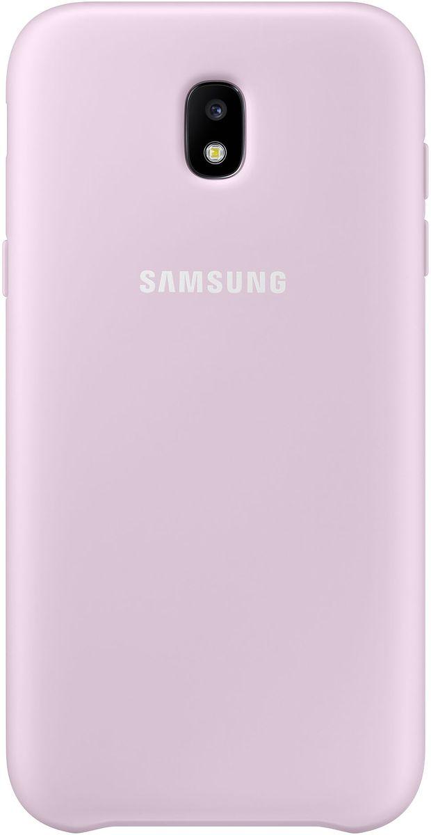 Samsung Dual Layer Cover чехол для Galaxy J3 (2017), PinkEF-PJ330CPEGRUЧехол Samsung Dual Layer Cover изготовлен из эластичного полиуретана. Он защищает смартфон от воды, пыли и грязи, а также поглощает ударные нагрузки, предотвращая повреждение чувствительной электроники.Аксессуар слегка выступает над поверхностью дисплея, не допуская его соприкосновения с твёрдыми предметами. Благодаря этому экран всегда остаётся гладким и чистым, сохраняя отличную видимость изображения.Пользователь в любой момент может сделать снимок, подзарядить аккумулятор или совершить звонок. В поверхности чехла предусмотрены специальные вырезы для камеры, кнопок и других функциональных элементов.