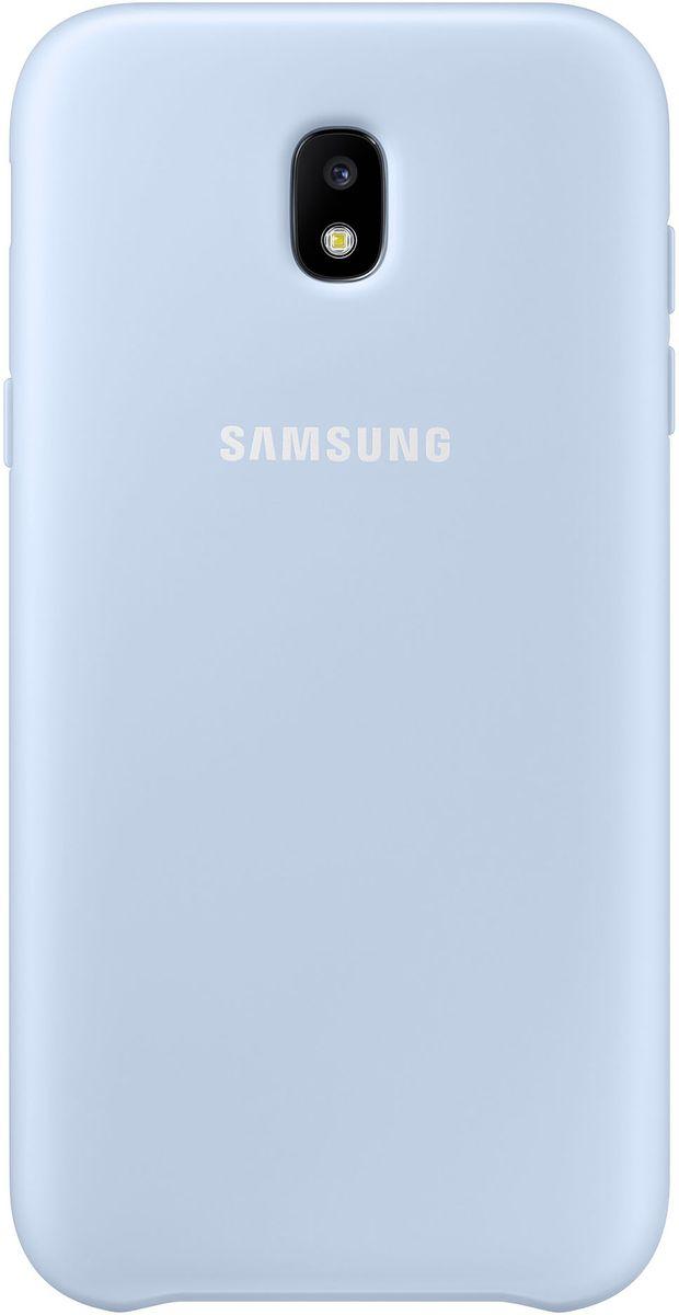 Samsung Dual Layer Cover чехол для Galaxy J3 (2017), BlueEF-PJ330CLEGRUЧехол Samsung Dual Layer Cover изготовлен из эластичного полиуретана. Он защищает смартфон от воды, пыли и грязи, а также поглощает ударные нагрузки, предотвращая повреждение чувствительной электроники.Аксессуар слегка выступает над поверхностью дисплея, не допуская его соприкосновения с твёрдыми предметами. Благодаря этому экран всегда остаётся гладким и чистым, сохраняя отличную видимость изображения.Пользователь в любой момент может сделать снимок, подзарядить аккумулятор или совершить звонок. В поверхности чехла предусмотрены специальные вырезы для камеры, кнопок и других функциональных элементов.