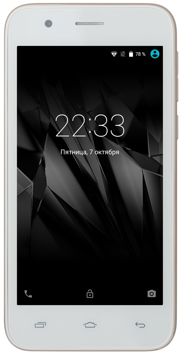 Micromax Bolt Q346 Lite, White GoldT028378Смартфон Micromax Bolt Q346 Lite понравится ценителям качественного видео и мобильных игр. Он снабжен 4,5-дюймовым экраном, обеспечивающим превосходную видимость изображения при просмотре с любого ракурса и делающим его очень реалистичным за счет ярких насыщенных оттенков.Поскольку смартфон оснащен мощным четырехъядерным процессором 1,2 ГГц, вы можете запускать одновременно несколько мобильных приложений.Основная камера с разрешением 5 Мпикс и фронтальная камера с разрешением 2 Мпикс, чтобы запечатлеть на фото интересные моменты.Будьте на связи с двумя разными номерами на одном телефоне благодаря поддержке двух SIM-карт.Храните обширную коллекцию фильмов и музыки на своем смартфоне: Micromax Bolt Q346 Lite поддерживает карты памяти объемом до 32 Гб.Телефон сертифицирован EAC и имеет русифицированный интерфейс меню и Руководство пользователя.
