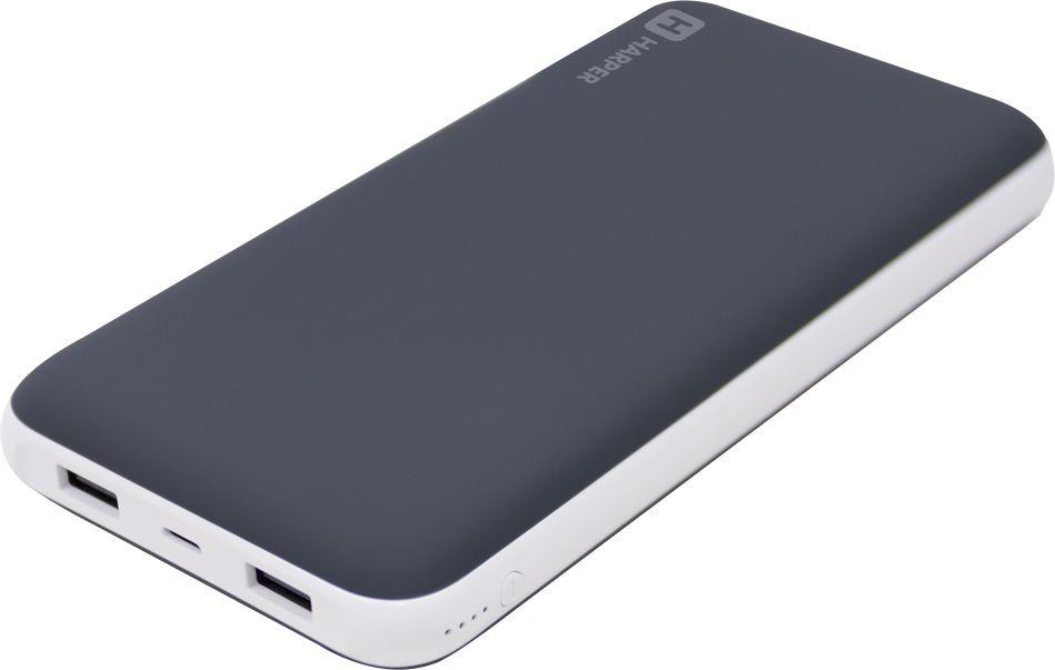 Harper PB-20002, Black внешний аккумулятор (20000 мАч)00-00001406Внешний аккумулятор для зарядки мобильных устройств. Выход на потребление тока: USB;Количество выходных портов: 2;Параметры выходного тока USB1: 5 В, 2,1А;Параметры выходного тока USB2: 5 В, 1А;Полная емкость аккумулятора: 20000 мАч;Вход для зарядки: MicroUSB/Lightning;Параметры входного тока: 5 В 2А/5В 1А;Время полной зарядки: 13-13,5 часов;Индикация разрядки батарей: да;Переходники в комплекте: MicroUSB.