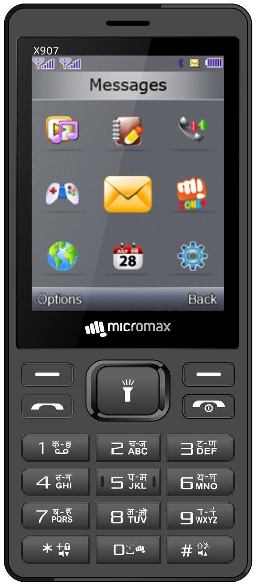 Micromax X907, Grey - Мобильные телефоны