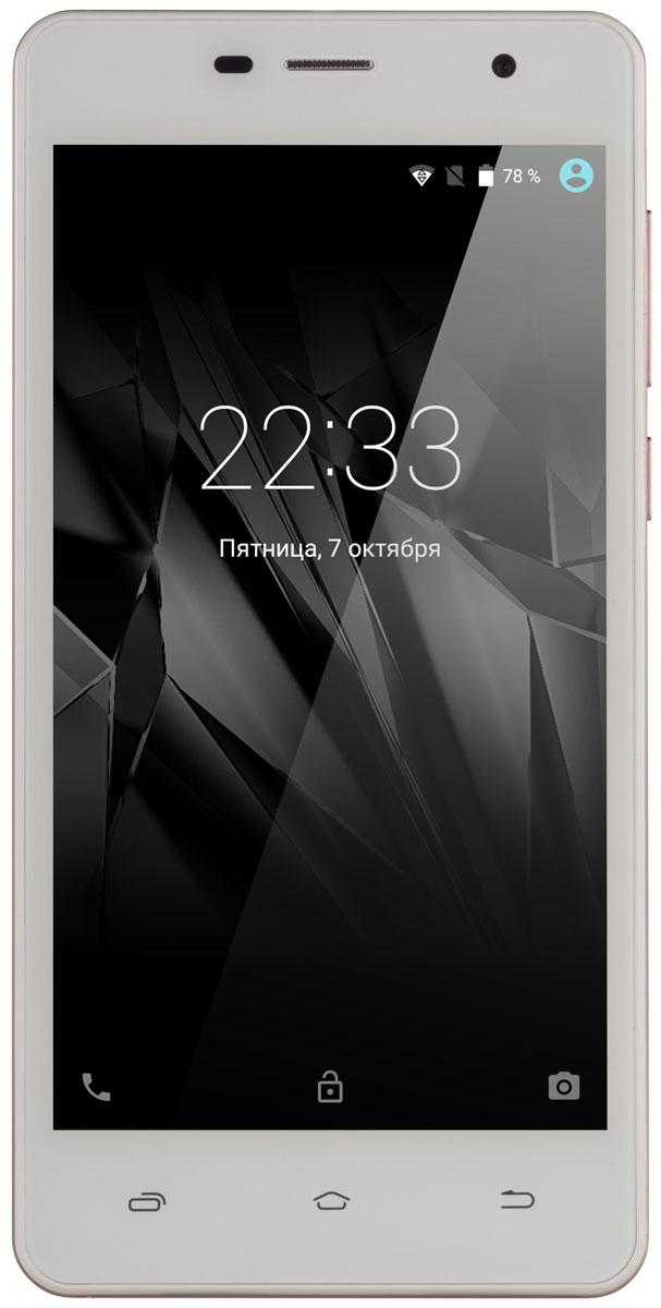 Micromax Сanvas Spark 2Pro Q351, Champagne WhiteT028360Производительный смартфон Micromax Сanvas Spark 2Pro Q351 с 4-ядерным процессором, с долгоработающей батареей, 1 ГБ оперативной памяти и 8 ГБ памяти для хранения файлов. Также смартфон поддерживает карты памяти MicroSD объемом до 32 ГБ.Новая операционная система Android Marshmallow отлично впишется в ваш привычный мир, а потрясающе удобный интерфейс облегчит работу.Незачем идти в кинотеатр — Canvas Spark 2 Pro позволяет смотреть все ваши любимые фильмы на 5-дюймовом экране FWVGA.Будьте настоящим профессионалом: Canvas Spark 2 Pro, оснащенный четырехъядерным процессором с частотой 1,2 ГГц, позволит вам одновременно работать с множеством задач.Задняя камера Canvas Spark 2 Pro с разрешением 5 Мпикс позволит вам позировать и делать потрясающие фотографии.Храните все свои медиафайлы во внутренней памяти устройства емкостью 8 ГБ, и вам никогда не придется скучать! А если места недостаточно, поддерживаются карты памяти размером до 32 ГБ.Телефон сертифицирован EAC и имеет русифицированный интерфейс меню и Руководство пользователя.