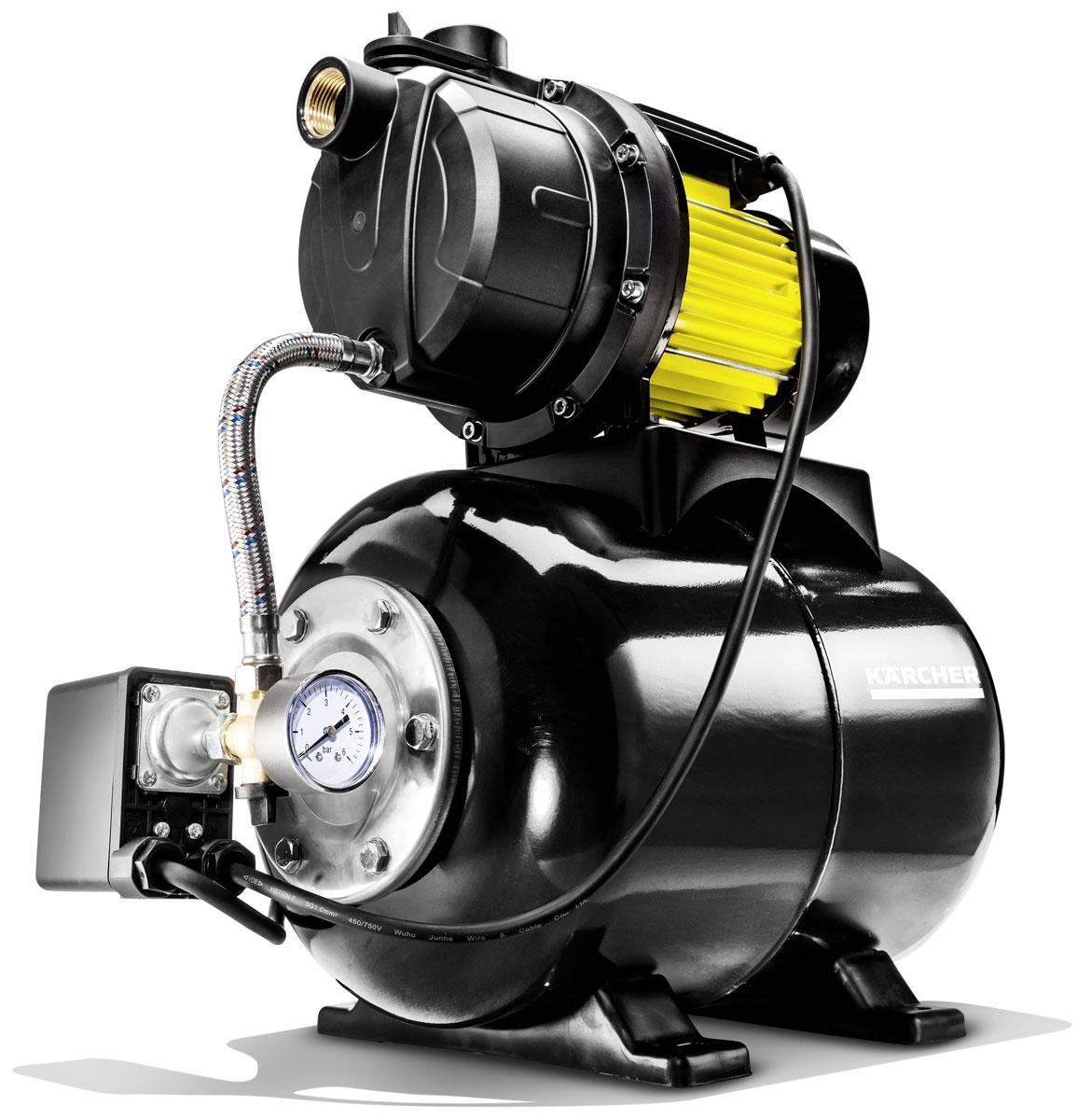 Насос Karcher BP 5 Home *EU, с гидробаком1.645-370.0Насос с гидробаком BP 5 Home автоматически будет поддерживать необходимое давление в системе домового водоснабжения. Подойдет как для использования со стиральной машиной, так и для прочих хозяйственных нужд. Невероятная практичность достигается за счет автоматического включения/отключения в зависимости от давления в системе, 24 литровый бак позволяет включать насос только когда настанет необходимость. Встроенная защита от перегрева гарантирует отключение насоса в случае перегрева. Сам насос тоже будет долго работать так как в производстве используется нержавеющая сталь. Станция легко монтируется к полу с помощью крепежных элементов.