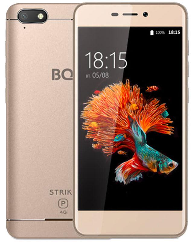 BQ 5037 Strike Power 4G, Gold85952839BQ Mobile представляет новый смартфонBQ-5037 Strike Power 4G.Встречайте первый смартфон из легендарной линейки Strike, созданный для работы в сетях четвертого поколения - 4G. Отныне серфинг в интернете, просмотр и загрузка файлов станут гораздо быстрее.За эффективную и скоростную обработку поступающих запросов отвечает четырехъядерный процессор с тактовой частотой1100 МГц. Надежную и проверенную временем ОС Android 6.0 отличает отточенный и интуитивно понятный пользовательский интерфейс и стабильная работа всех современных приложений.Изогнутый 2,5D дисплей, созданный с применением технологии oncell, обеспечивает мгновенный отклик на касание и отсутствие искажений изображения.Мощный аккумулятор емкостью 4000 мАч продлевает работу устройства до нескольких дней, позволяя не думать в поездках о зарядке смартфона.Две камеры 13 и 5 мегапикселей не только помогут вам сделать хорошие снимки, но и принеобходимости осуществить видеозвонок или провести трансляцию.Телефон сертифицирован EAC и имеет русифицированный интерфейс меню и Руководство пользователя.